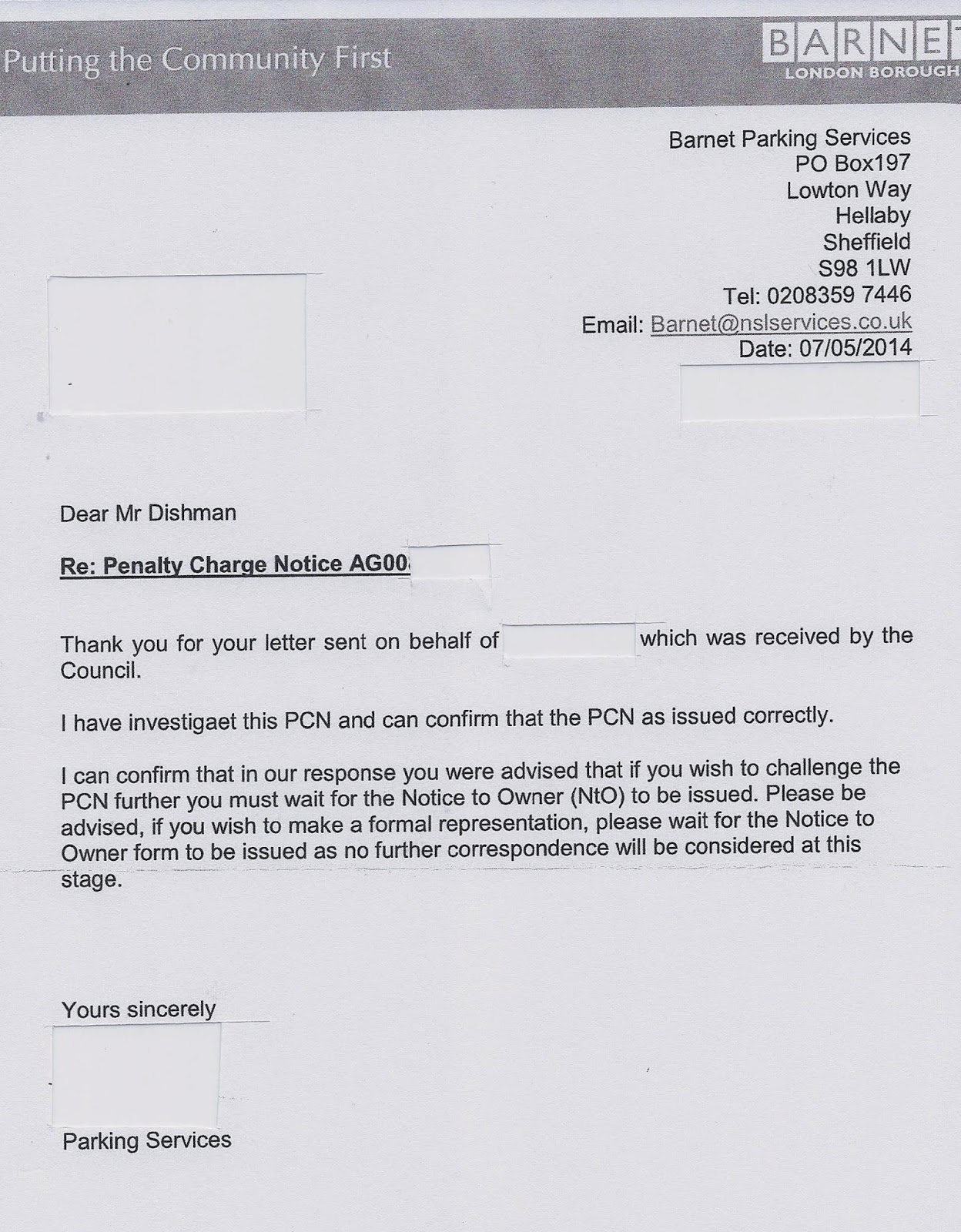 pcn complaint letter Dart charge complaints if you want to dispute a penalty charge notice (pcn) you must use the statutory process this is explained on the pcn notice we send to you.