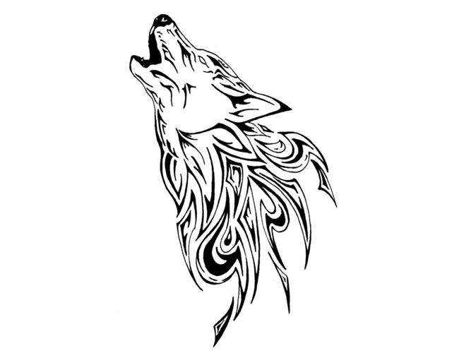 Tattoos Book: +2510 FREE Printable Tattoo Stencils: Wolf tattoo ...