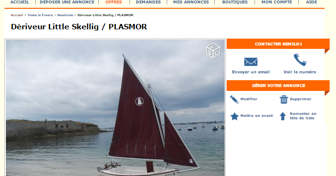 D riveur little skellig plasmor su leboncoin for Garage ad lorient