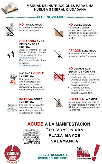 cartel huelga general Salamanca