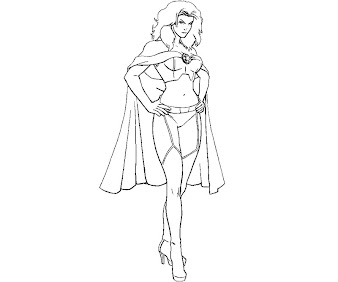 #4 Emma Frost Coloring Page