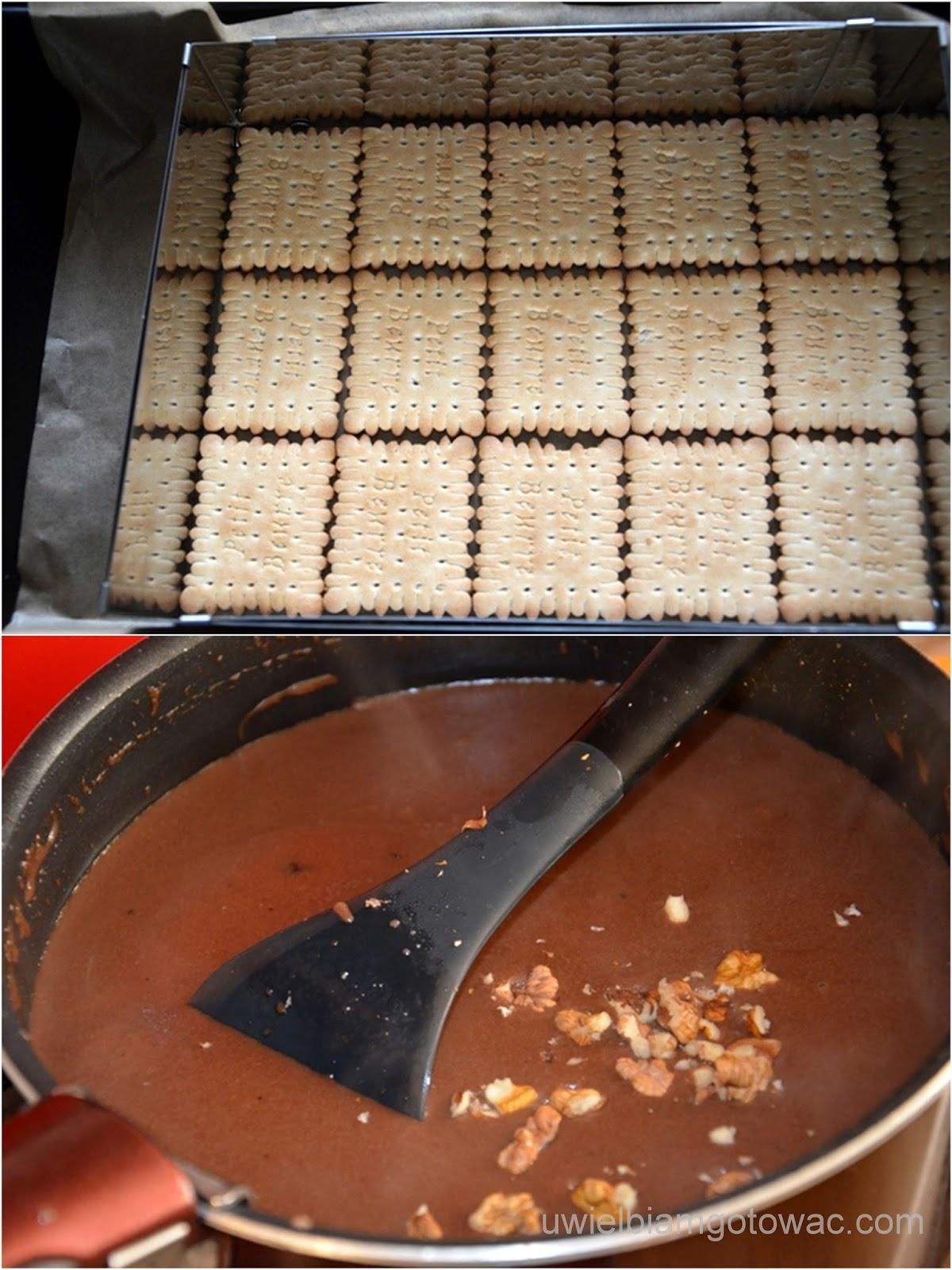 Ciasto z kaszą manną i galaretką bez pieczenia
