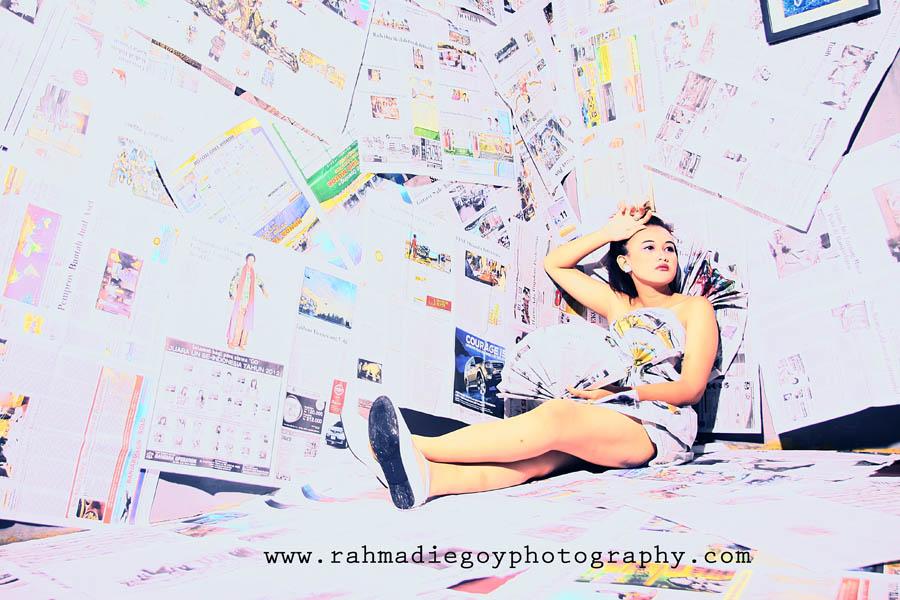 rahmadi egoy photography model concept news paper / koran  8