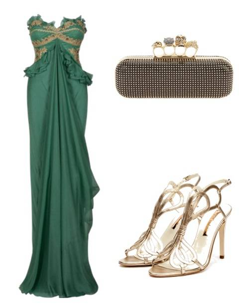 Vestido verde combina com que cor de sapato