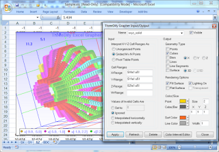 ThreeDify Excel Grapher: An add-in for Microsoft Excel Creating 3D Graphs