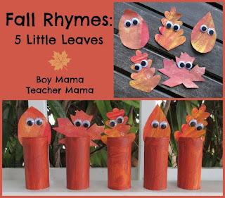 http://boymamateachermama.com/2013/09/25/boy-mama-fall-rhyme-5-little-leaves/