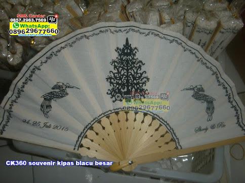 souvenir kipas blacu besar murah