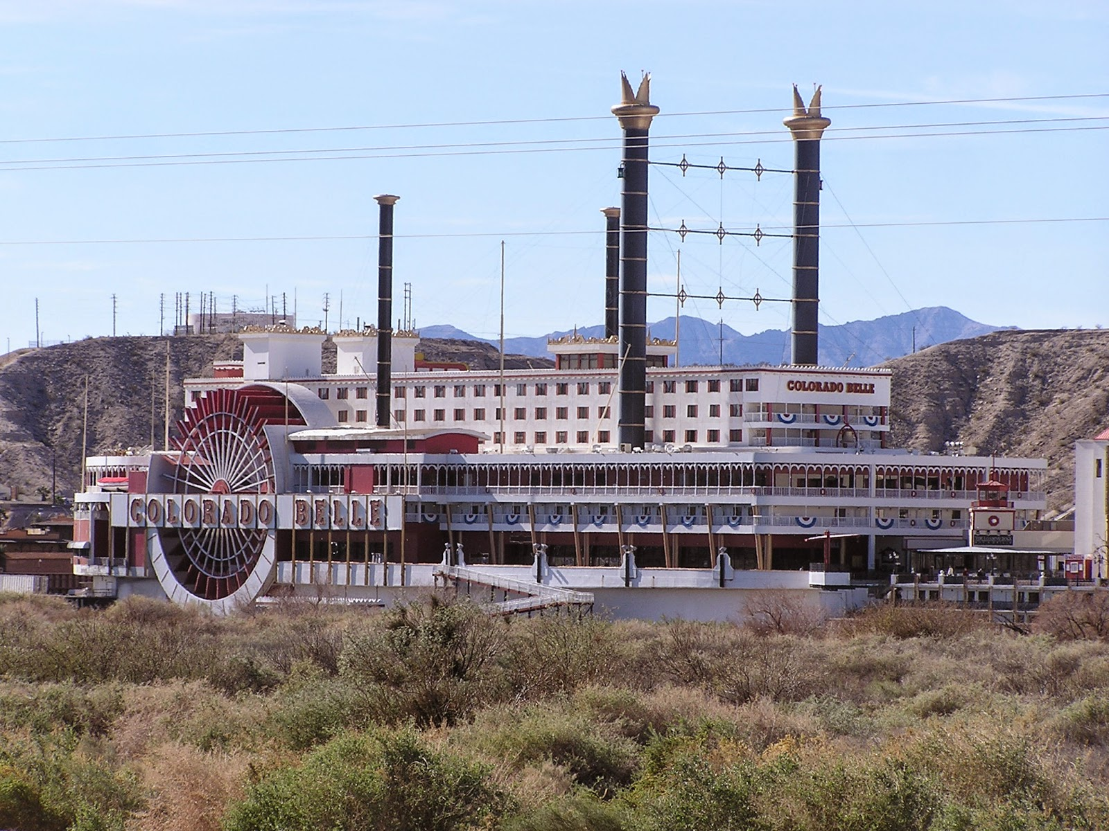 this is one of the casinos across the river in laughlin nv it is actually a building made to look like a paddle wheel boat good job huh on to walmart