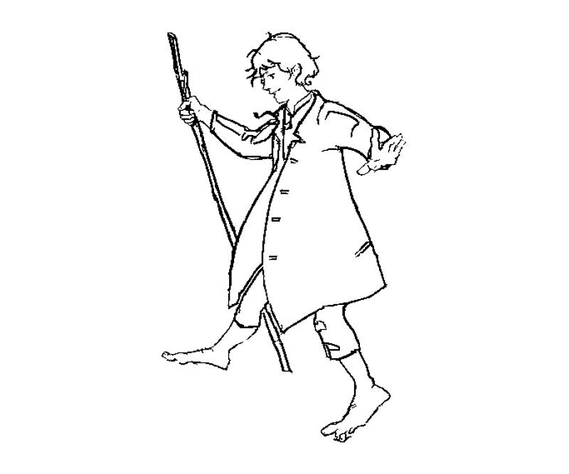 hobbit character coloring pages - photo#5
