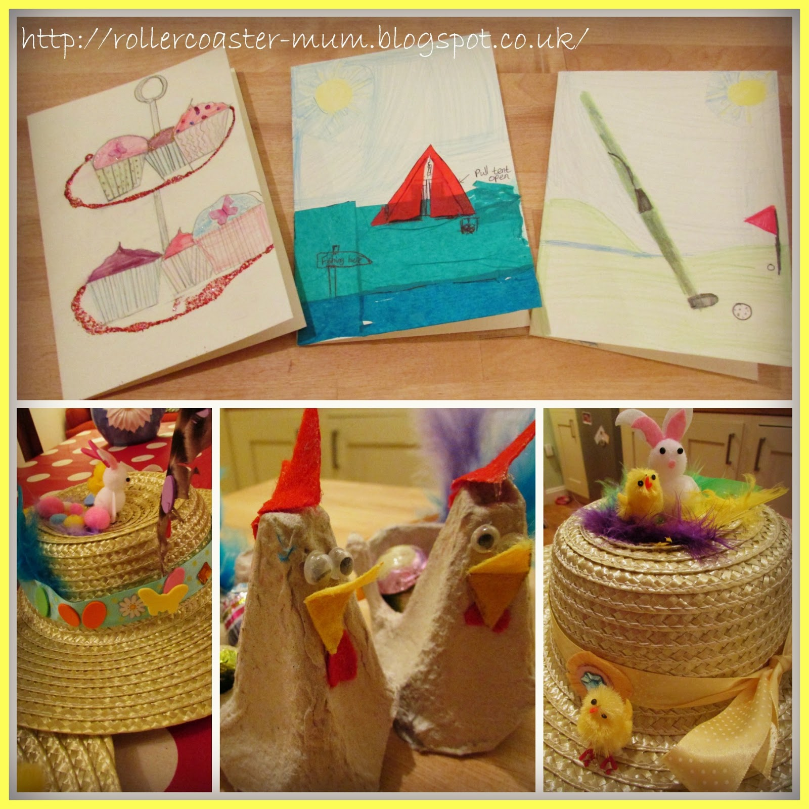 Homemade cards and Easter crafts