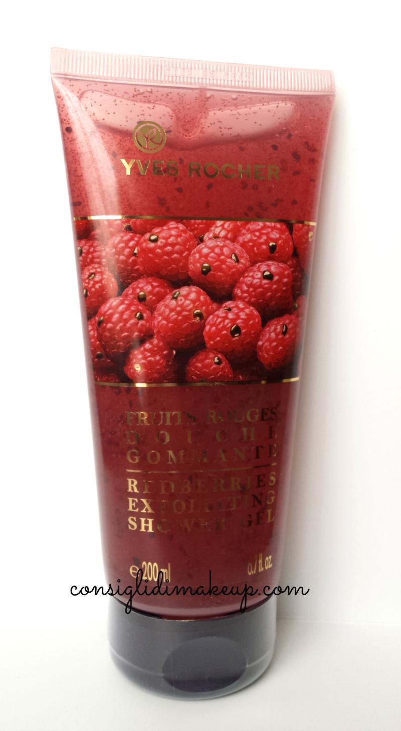 gommage doccia frutti rossi yves rocher