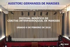 06.02.16 FESTIVAL BENÉFICO DE CÁRITAS INTERPARROQ. EN EL AUDITORIO DE MANISES
