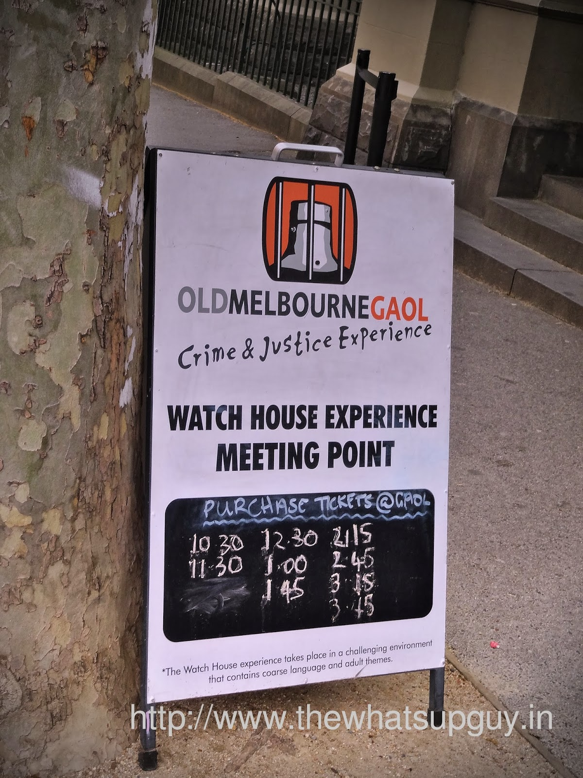 Old Melbourne Gaol Timing