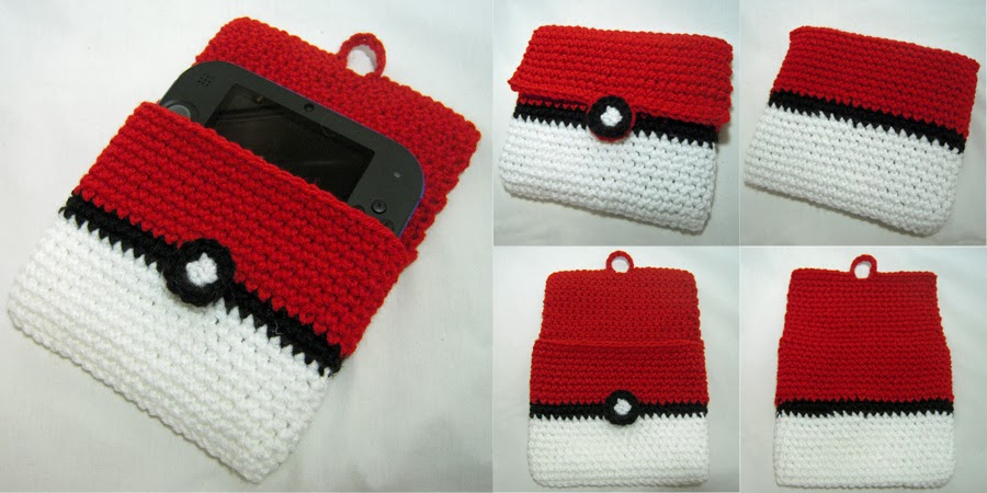 I Crochet Things Free Pattern 2ds Pokeball Cover
