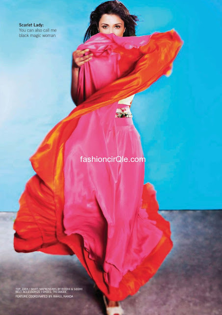 Parineeti Chopra red dress filmfare - (5) - Parineeti Chopra Filmfare Magazine Scans
