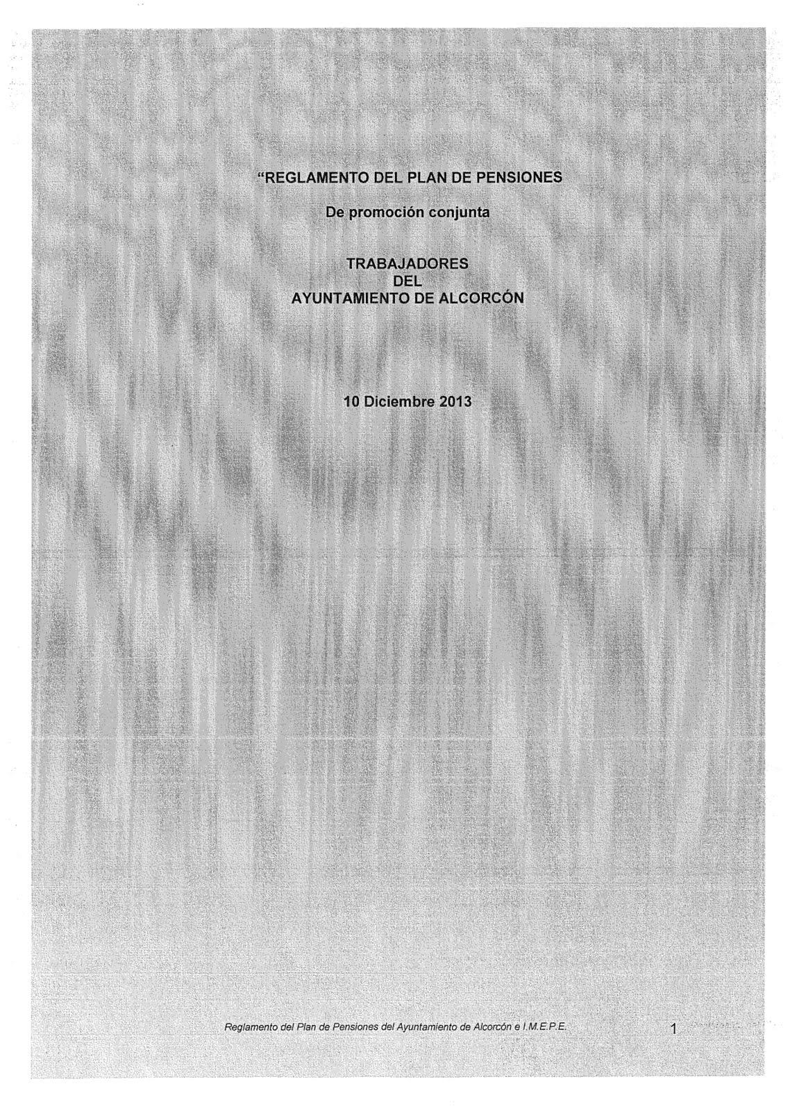REGLAMENTO PLAN DE PENSIONES