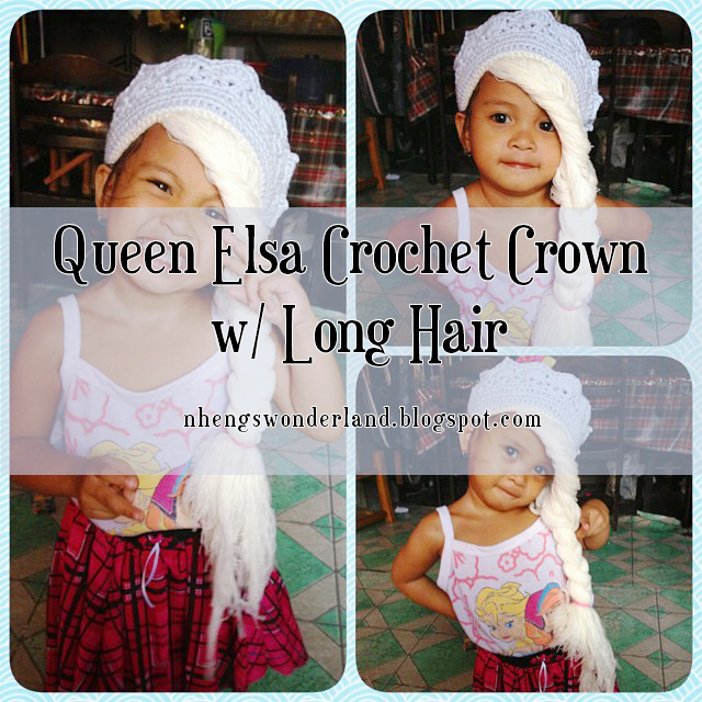 Queen Elsa Crochet Crown w/ Long Hair