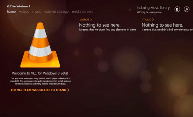 Download VLC Media Player Versi Metro Untuk Windows 8 / 8.1