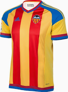 gambar photo Jersey valencia away terbaru musim 2015/2016
