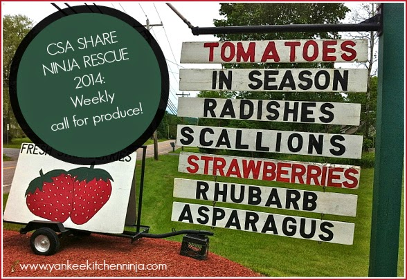 Weekly recipe ideas for CSA produce