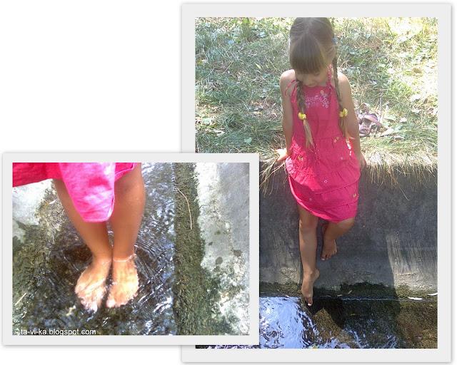 купание в ручейке