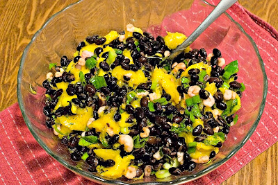 Black Bean Mango Salad with Shrimp