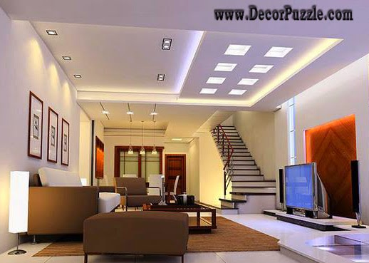 modern false ceiling lights, led ceiling lights for modern interior - Top Ideas For LED Ceiling Lights For False Ceiling Designs