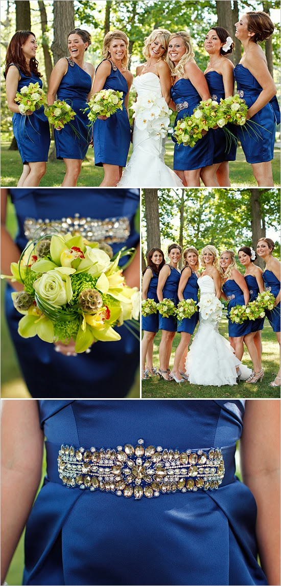 Blue Wedding Dress Colors : Colorful dress and flower wedding theme http refreshrose