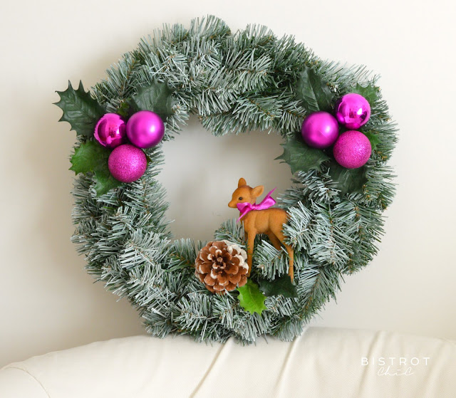 Pink Christmas Wreath by BistrotChic
