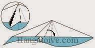 Bước 9: Mở lớp giấy ra, kéo và gấp lớp giấy sang phải.