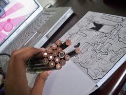 Pensil merupakan salah satu alat untuk menggambar bentuk