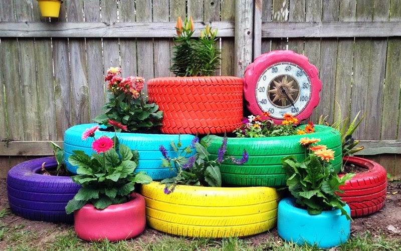 There Are Many Interesting And Suggestions To Recycling Reuse Old Car Wheels For Home Goods Garden Designs Toys Games Kids Play Areas