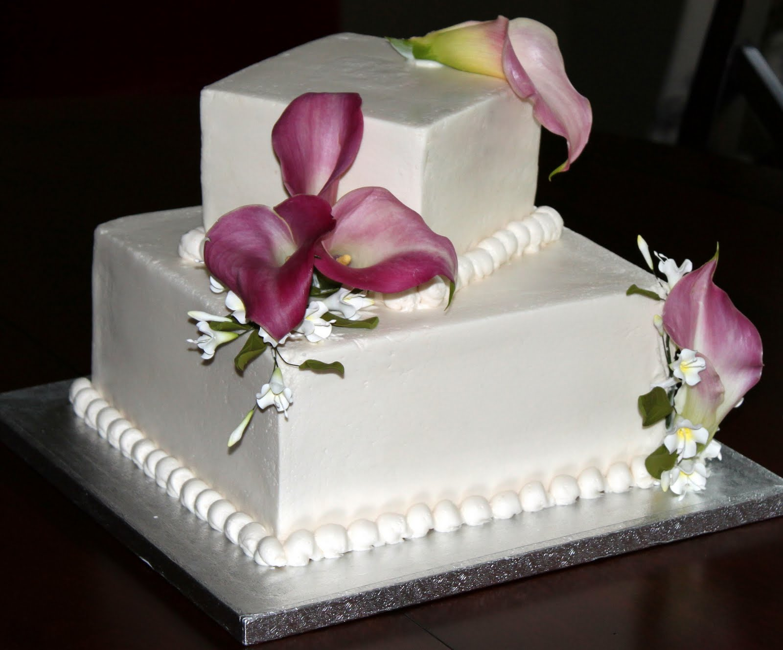 Simple Buttercream Wedding Cake Viewing Gallery