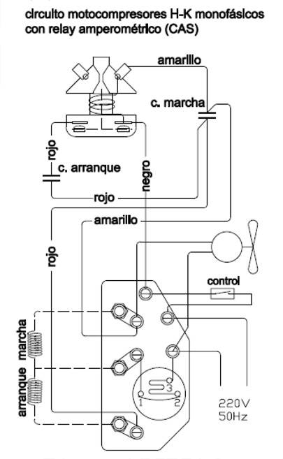 Circuito Electrico Heladera Comercial : Refrigeración servicios circuito eléctrico compresor