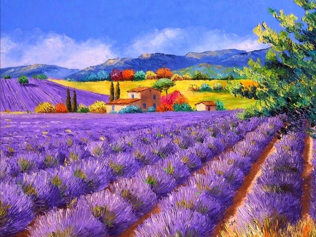 pinturas paisajes primaverales