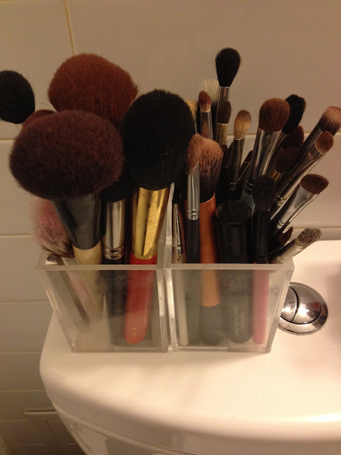 Makeup Brush Collection and Storage