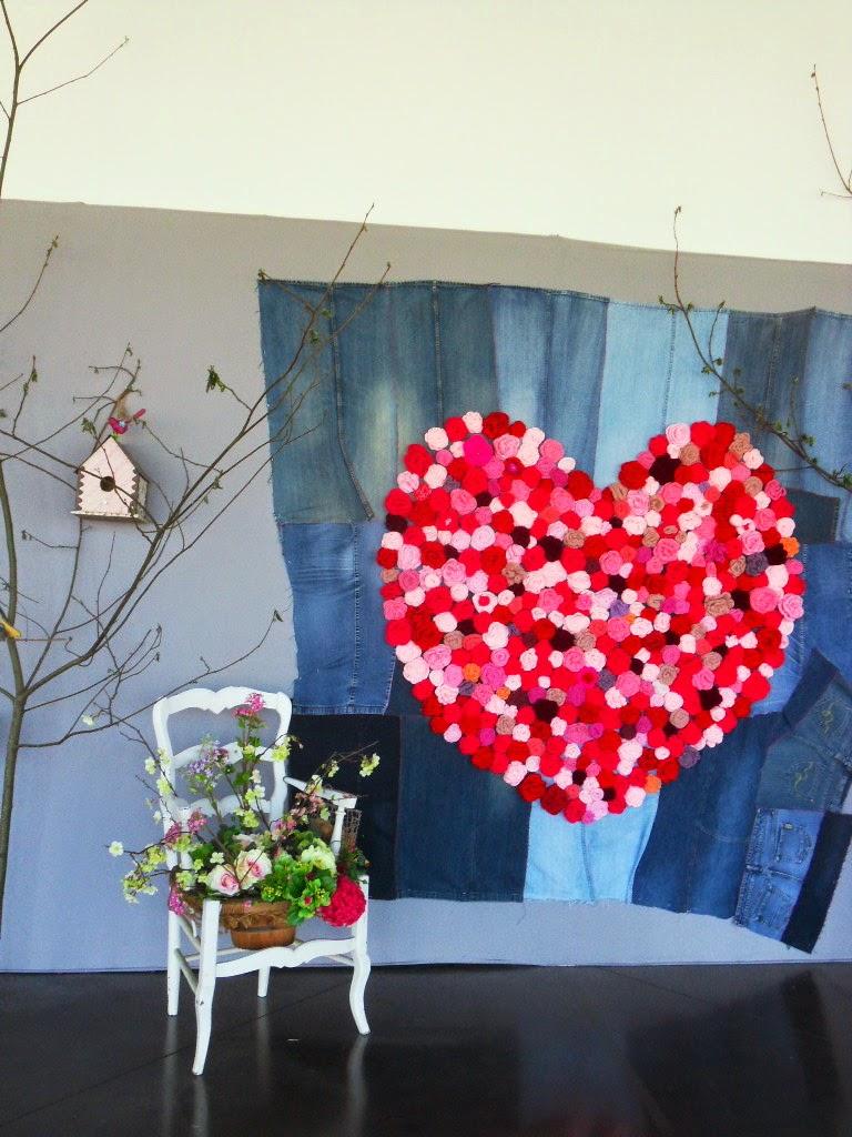 coeur en fleurs crochet, nantes, salon pour l'amour du fil