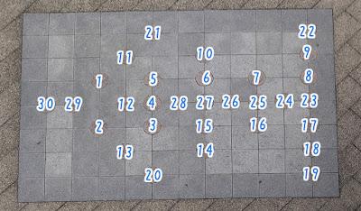 板橋三丁目縁宿広場 算術あそび ひろいもの「金」の答え