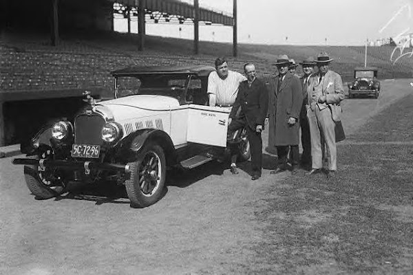 Babe Ruth and his 1926 Auburn Roadster