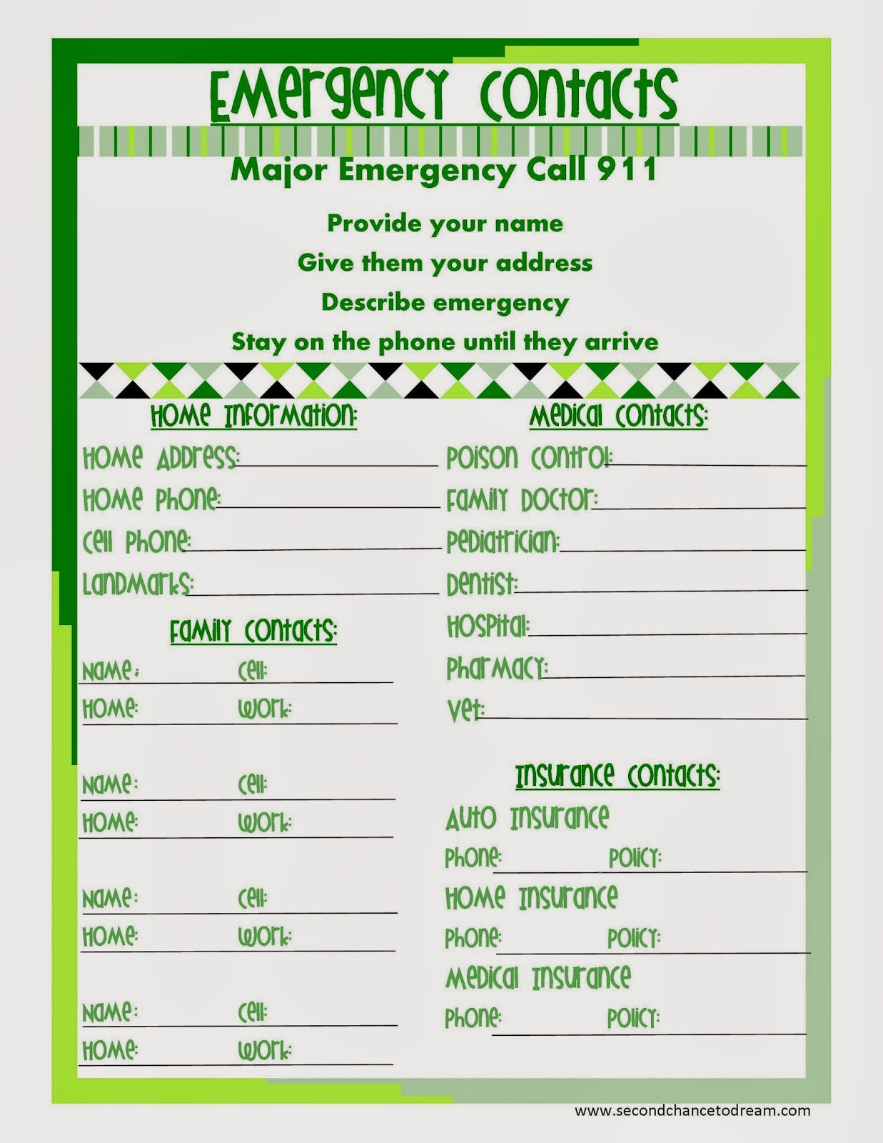 emergency contact numbers format