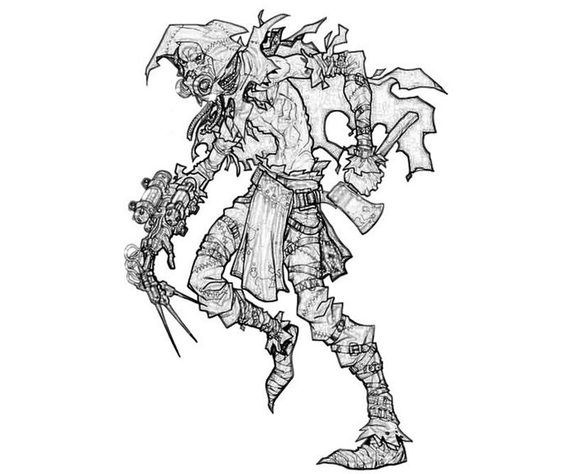 batman-arkham -city-riddler-scarecrow-armor-coloring-pages