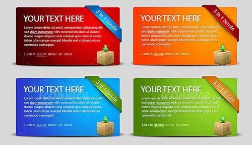 Four Colour Web Banners