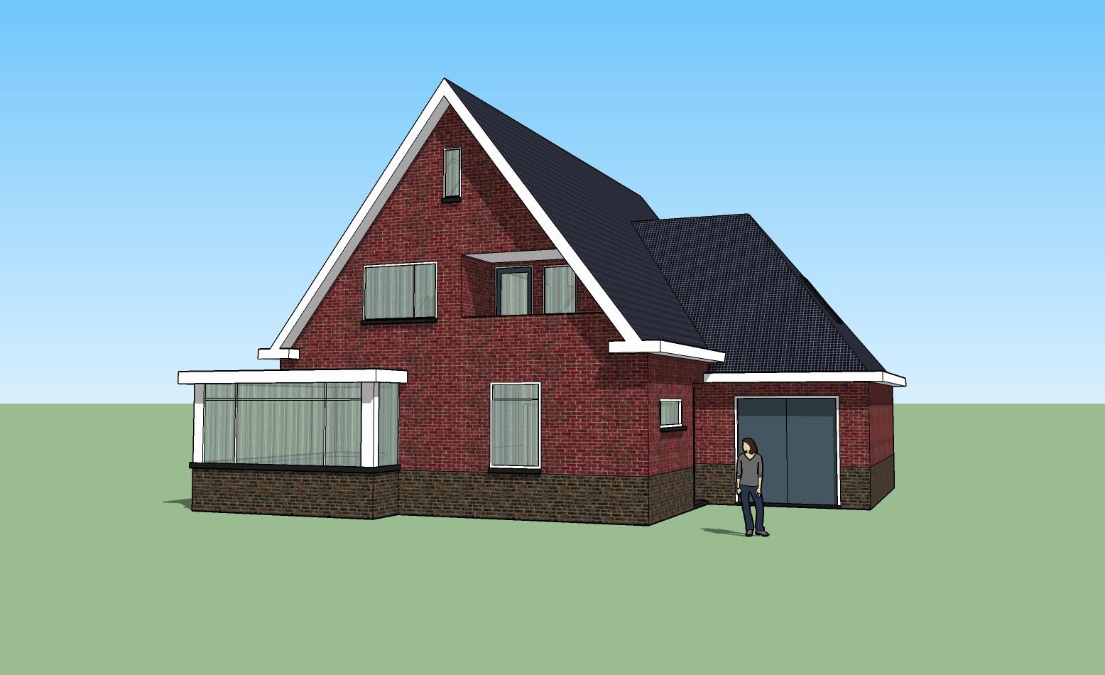 Huis q u a d r a sketchup for Huis in 3d ontwerpen