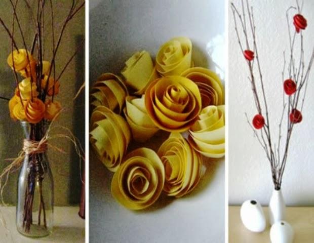 Berbagai Kreasi Kerajinan Tangan: Cara Membuat bunga Mawar dari Kertas