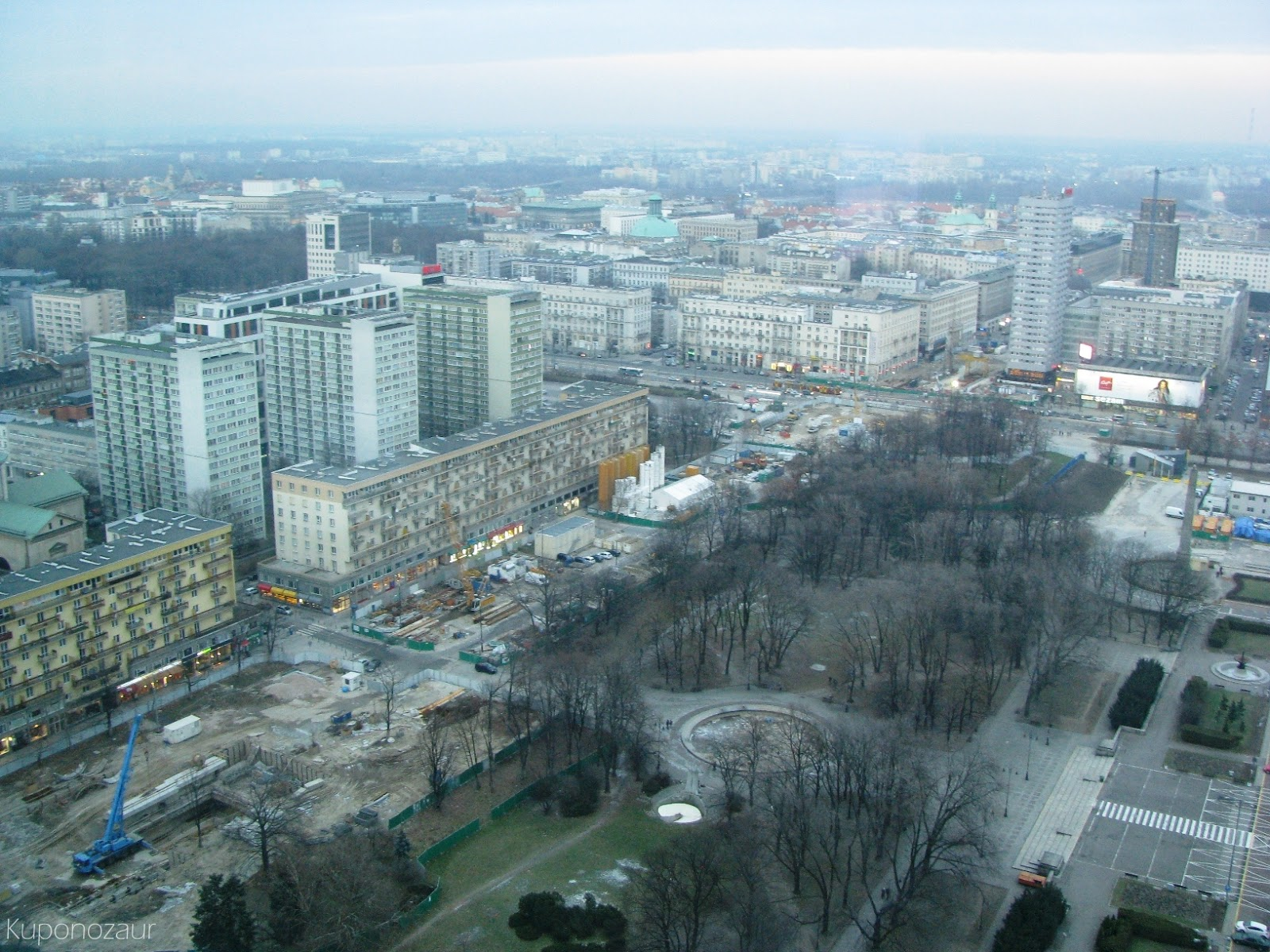 InterContinental Warszawa widok na budowę metra