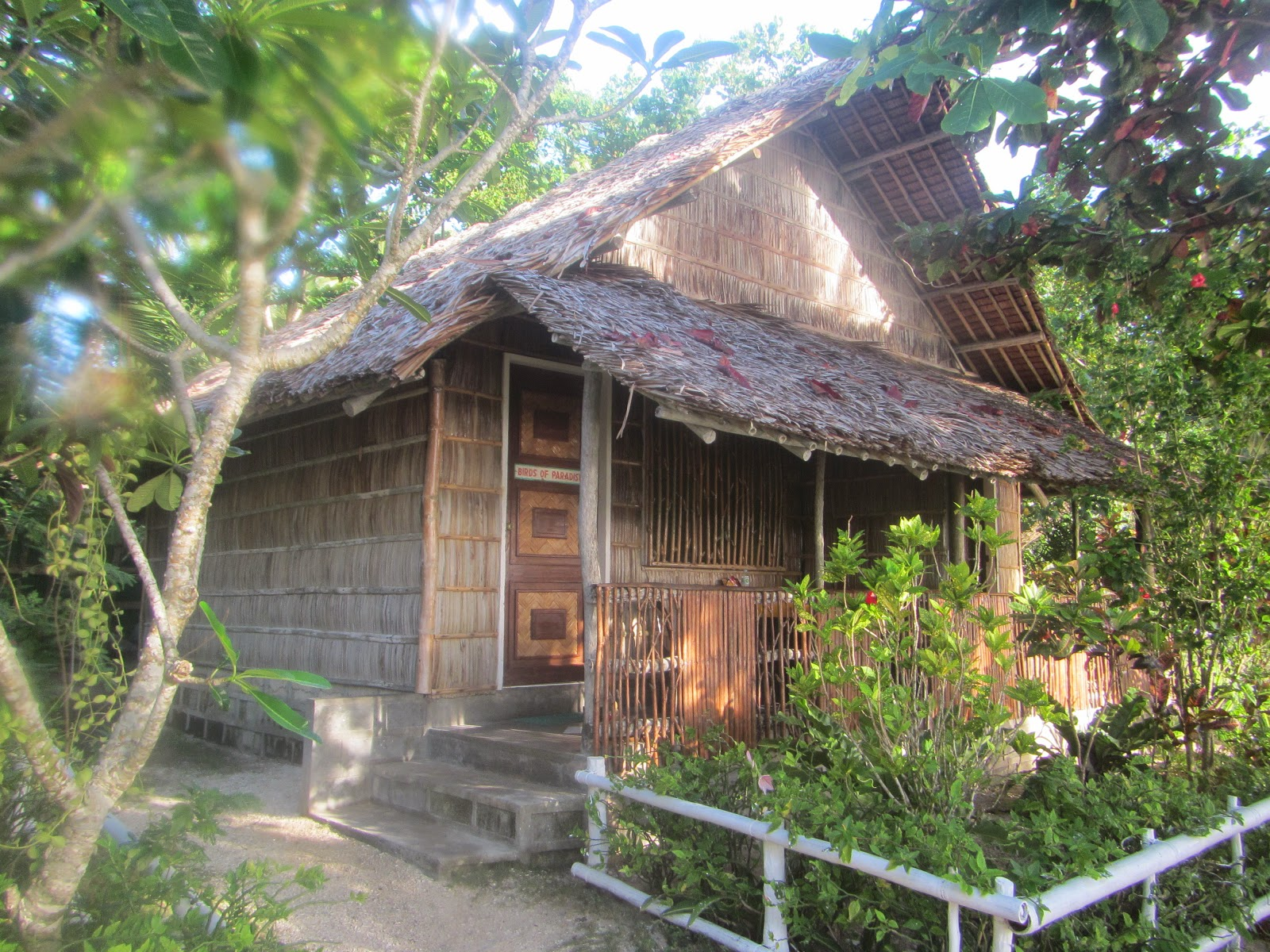 The nipa hut accommodation