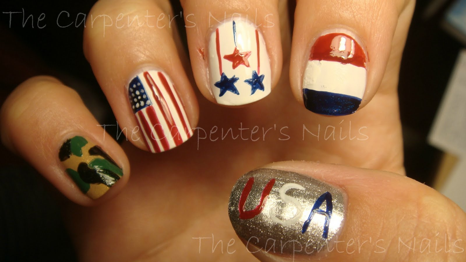 Nail Design For Funeral ~ Memorial day nail art with vibrant vinyls