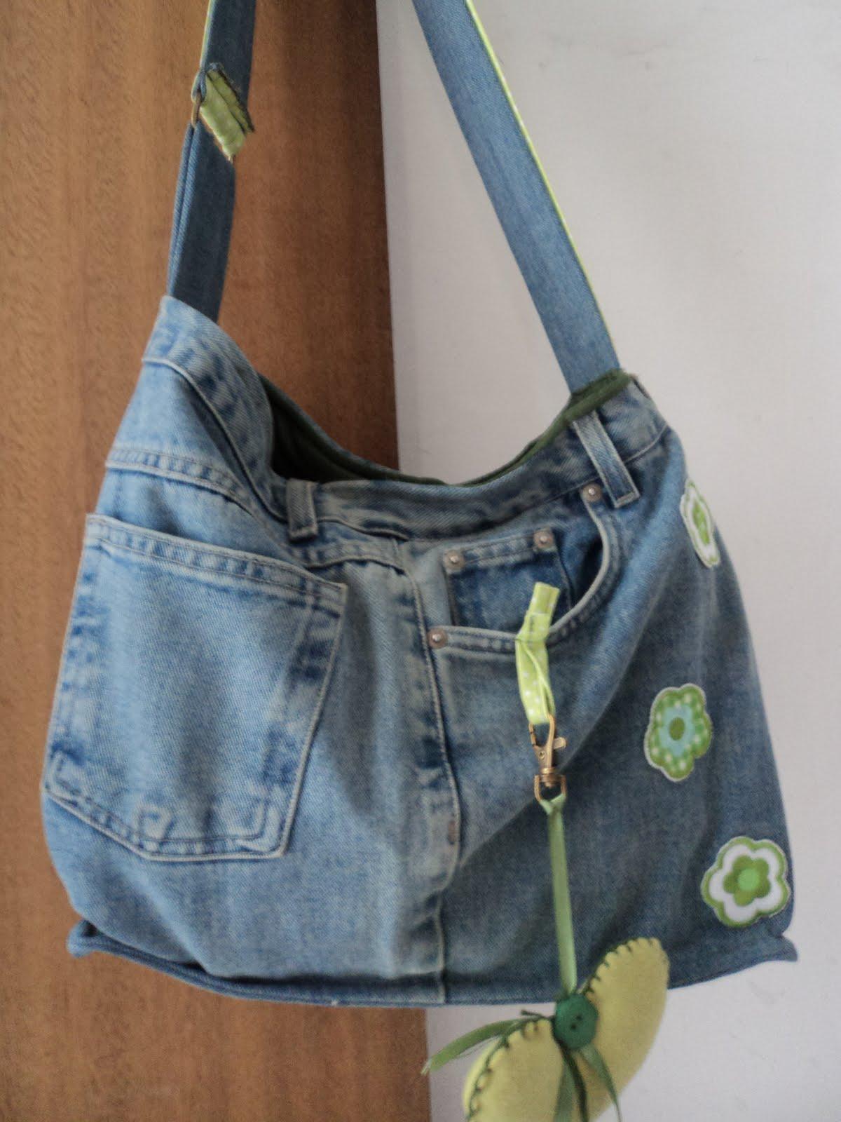Bolsa De Tecido Jeans Passo A Passo : Fazendo arte com a clau bolsa de cal?a jeans