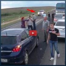 Nunca pare para ver um acidente na estrada...