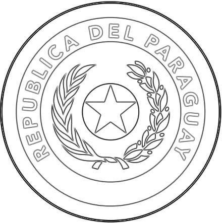 Mapa y Bandera y Escudo de Paraguay para dibujar pintar colorear ...